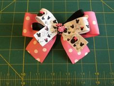 Minnie Mouse Pink hair barrette by MeridaMerchandise on Etsy, $4.00