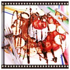 Homemade Veg Zone: Hazel nut Orio, peanut butter ice cream crepe