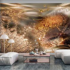 Papier peint Dandelions' World Gold Artgeist 3d Wallpaper Mural, Wallpaper Paste, Photo Wallpaper, Dandelion Wallpaper, Standard Wallpaper, Shops, Home And Garden, Wall Decor, Ceiling Lights