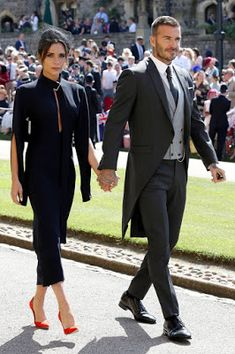 Victoria Beckham & David Beckham @ Royal Wedding