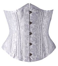0032277dd04ab 2016 Gothic Women 24 Steel Boned Corset Satin Underbust Waist Trainer  Cincher Bustier For Woman Corselet XS-XXXL