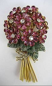 iradj moini jewelry | Early Iradj Moini for Oscar de La Renta Flower Pin (item #780245)