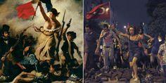 La libertad guiando al pueblo, 1830. Eugène Delacroix.