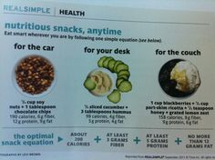 Great guidance for smart snacking