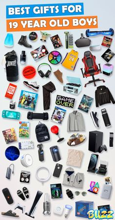 See 100+ gifts for 19 year old boys for birthdays and Christmas. Teenage Girl Gifts Christmas, Christmas Gifts For Boyfriend, Old Christmas, Christmas Gifts For Friends, Boyfriend Gifts, Cool Gifts For Teens, Gifts For Teen Boys, Teen Presents, 15 Year Old Boy