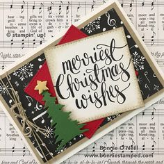 For today's post, I am presenting Note Card #2 out of 4 for the November Christmas Card Club. It sure is fun to create holiday cards especially with the amazing products Stampin' Up! has to offer.  I love trying different color combinations and my Merriest Christmas Wishes Note Card is one of my favorites!   …