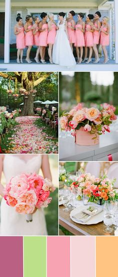 rose pink wedding color idea for wedding trends 2015