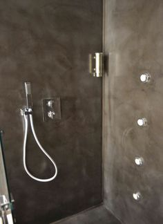 Ba os on pinterest bathroom glass tiles and cement - Banos cemento pulido ...