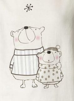 Photo 4 of Cream Star Gazing Bear Pyjamas