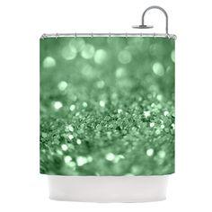 "Beth Engel ""Lucky Shamrock"" Shower Curtain"