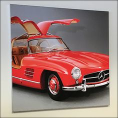 The year is my guestimation in this Mercedes Benz 1955 Red Gullwing Poster naming. I did compare it to online photos and think that I am correct even if Retail Fixtures, Store Fixtures, Mercedes Benz Retail, Mercedes Black, G63 Amg, G Class, Elm Street, Automobile, Antique