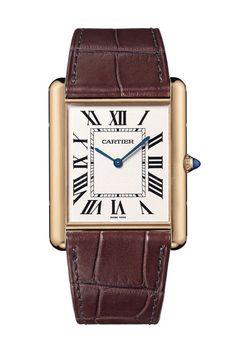 @cartier Tank Louis Cartier - This modern timepiece is directly inspired by the first Tank watch, launched in 1922, which was created as a gift for General John Pershing. #cartier #watchtime #luxurywatch