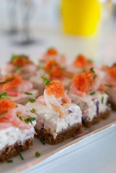 Today is a good day to eat drink and enjoy life! Crawfish Party, Brunch, No Salt Recipes, Sandwich Cake, Dessert For Dinner, Something Sweet, Party Snacks, Tapas, Catering