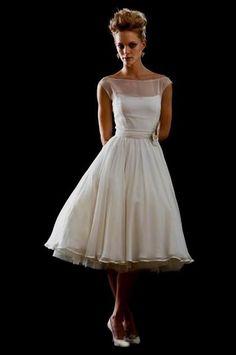 Nice vintage tea length wedding dress 2017-2018 Check more at http://fashionmyshop.com/review/vintage-tea-length-wedding-dress-2017-2018/