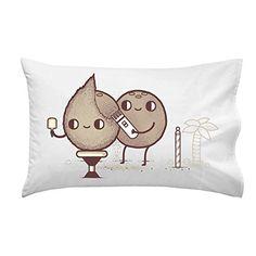 'Coconut Shavings' Barber Humor - Pillow Case Single Pillowcase