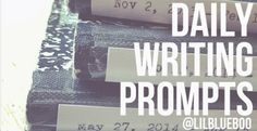 Daily Writing Prompts 5 days a week - Find them here. 10 minutes a day! It will be like we are writing partners. #writing #writingprompt Ashley Hackshaw / Lil Blue Boo - Living a simple, creative life in small town USA. Bryson City. A Lifestyle Blog.