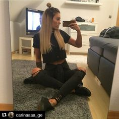#Repost @carinaaaa_ge #me #girl #black #fashion #style #ootd #nice #night #followme #photooftheday #beautiful #life #love #happy #friday #morgen #frei #jihaaa #blond #hair #ombre #vans #choker #tattoo #destroyedjeans #nofilter #Fitness #WeightLoss #Fat Loss #Gym #Cardio #PersonalTrainer