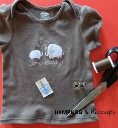 Save time and hassle by turning a onesie into a t-shirt. You'll get better use out of it and won't be cursing or dreading diaper changes! Sewing Hacks, Sewing Tutorials, Sewing Ideas, Sewing Tips, Sewing Crafts, Easy Sewing Patterns, Pattern Sewing, Nursing Tips, Baby Led Weaning