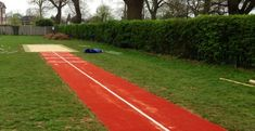 Long Jump Track with Sand Pit Construction in Slough, Berkshire - Soft Surfaces Triple Jump, Long Jump, Sand Pit, Track And Field, Things That Bounce, Athlete, Running, Burberry Outlet, Green Ash