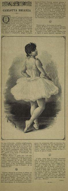 Ballet art: ballerina Carlotta Brianza