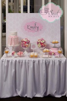 Sweets table layout
