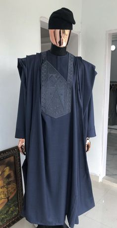 Deji and Kola African Attire For Men, African Clothing For Men, African Wear, African Dress, Nigerian Men Fashion, African Fashion Skirts, African Men Fashion, Calypso Clothing, Kaftan Designs
