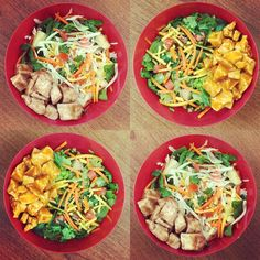 New Chopped Salads on the menu this Fall! Asian Chicken and Buffalo Chicken.