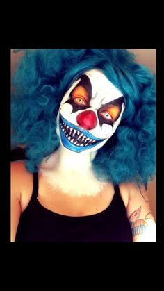 Halloween scary clown face paint