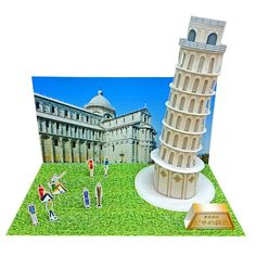 Leaning Tower of Pisa Free Building Paper Model Download