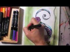 Buchstabe S - Zentangle Inspired Art - YouTube