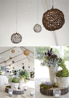 Country Wedding Ideas Mason Jars | via weddingchicks.com