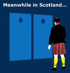 Scottish Toilets Funny Sign                                                                                                                                                      More