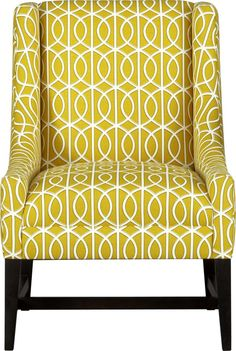 This patterned chair will brighten up the whole room. Get it now from Crate & Barrel and save with coupons: http://www.coupons.com/coupon-codes/crate-%26-barrel/