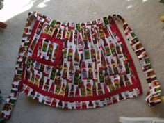 Waist apron (fabric is different kinds of hot sauce)