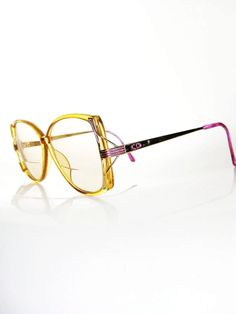 Vintage DIOR Yellow OVERSIZED 1970s Eyeglasses Glasses 70s Sunglasses INDIE Optical Frames Womens