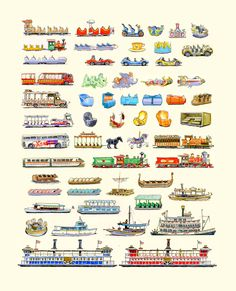 disney world vehicles poster - Google Search