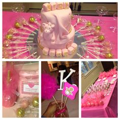 Gorgeous pink baby shower inspiration.   #itsagirl #babygender #reveal #babyparty #welovepink #babyshowerideas #baby #babygirl #shower