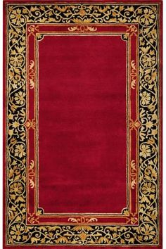 Churchill Area Rug - Area Rugs - Wool Rugs x for Red Bedroom upstairs Wall Carpet, Carpet Flooring, Rugs On Carpet, Cheap Rugs, Vintage Book Covers, Interior Rugs, Prayer Rug, Carpet Design, Border Design