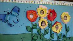 Kindergarten spring bulletin board idea