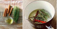 Limón, canela y algunas ramas de pino para que nuestra casa tenga un aroma de lo más agradable.