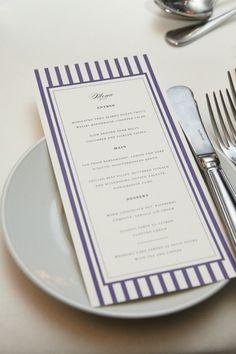 Striped menu