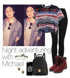"""""""Night adventuring with Niall"""" by cheyenne-stock ❤ liked on Polyvore featuring Topshop, Opening Ceremony, Kenneth Jay Lane, Timberland, Michael Kors, Casetify, Givenchy and Alexander McQueen"""
