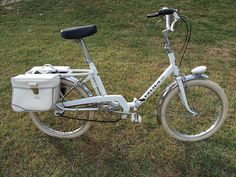 """This is a Helium folding bike from the early 70's made by Peugeot.  Peugeot used the """"Helium"""" branding for their lower-end, less expensive bicycles."""