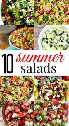 Light and refreshing summer salads! Perfect for your family or a crowd!