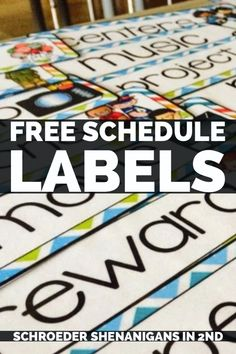 Grab some free schedule cards to help you organize and label your classroom for the new year Preschool Schedule Cards, Free Schedule Cards, Classroom Schedule Cards, Classroom Labels, Classroom Supplies, Preschool Classroom, Classroom Organization, Classroom Management, Classroom Ideas