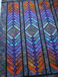Batik Quilts, Jellyroll Quilts, Quilting Projects, Quilting Designs, Quilting Ideas, Modern Quilting, Braid Quilt, Stained Glass Quilt, Quilting Board