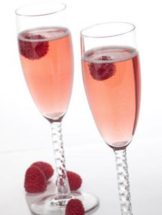 For my recipe i simply use moscato, brut champagne and red berry ciroc with a strawberry. 2 of them will have you feeling great!