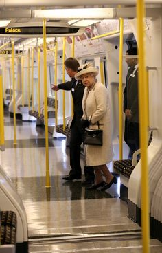 The Queen pays a visit to the Baker Street Underground station to celebrate the anniversary of the London underground accompanied by her husband Philip and granddaughter -in-law Duchess Catherine 20 Mar 2013 (Source: WPA Pool/Getty Images Europe) High Society, Union Jack, London Underground Tube, Windsor, Kingdom Of The Netherlands, U Bahn, Her Majesty The Queen, England And Scotland, We Are The World
