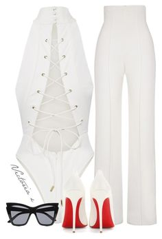 """Sem título #571"" by sweetdecember ❤ liked on Polyvore featuring Yves Saint Laurent, Christian Louboutin and Le Specs"