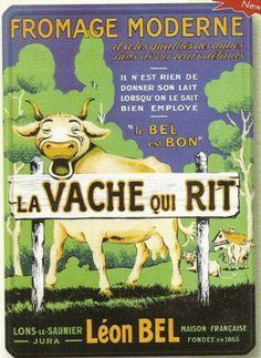PLAQUE METAL 20X15cm PUBLICITE RETRO VACHE QUI RIT FROMAGE MODER: Amazon.fr: Cuisine & Maison